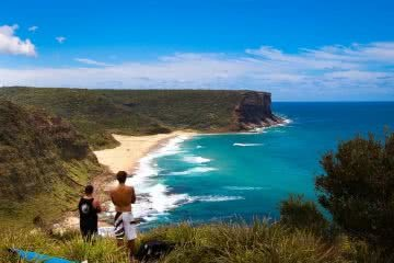 Adventures Near Sydney (That are Perfect for First Timers) Henry Brydon, beach, view, waves, surfing, headland, guys