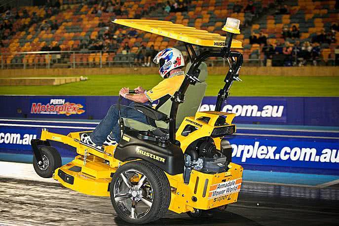 How to Ride a Lawnmower across Australia Time for a mower race