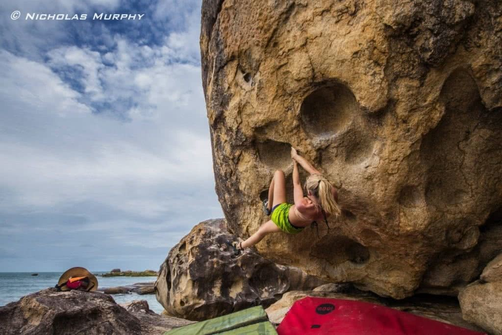 The Extremophiles photo by Nicholas Murphy adventure friends, beach bouldering