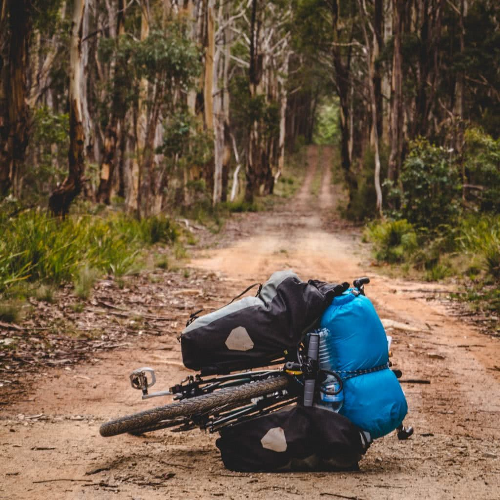 Solo Bicycle Microadventure // Blue Mountains Henry Brydon bikepacking panniers bike