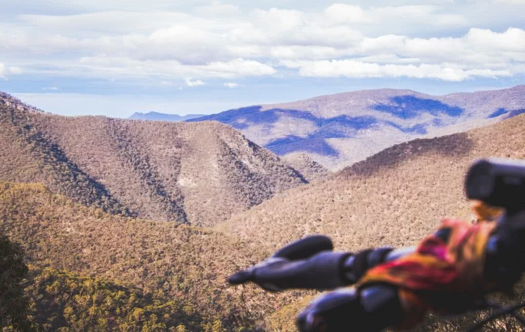 Solo Bicycle Microadventure // Blue Mountains Henry Brydon mountain view