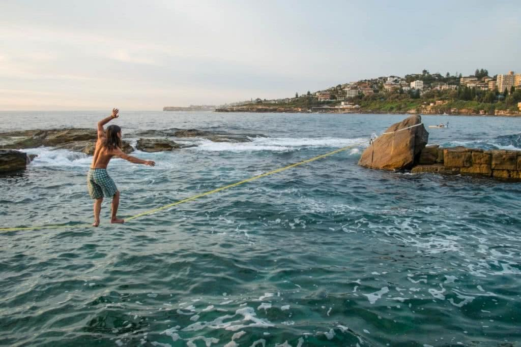 Interview With A Slackliner Henry Brydon slackline, ocean, waterline