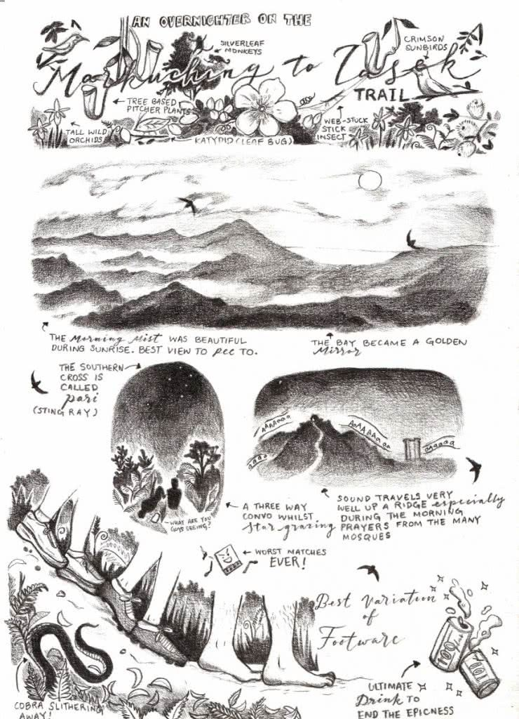 Interview with an Adventure Illustrator, Serene Kitchen, Henry Brydon, illustration, comic strip, sketch, drawing, graphic