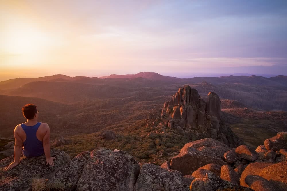 All-Seasons Playground // Mount Buffalo (VIC) Casey Stephens Mount Buffalo Victoria mountains sunset