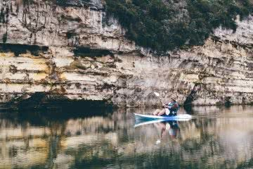 Kayaking the Lower Glenelg river, Jack Brookes, gorge, kayak