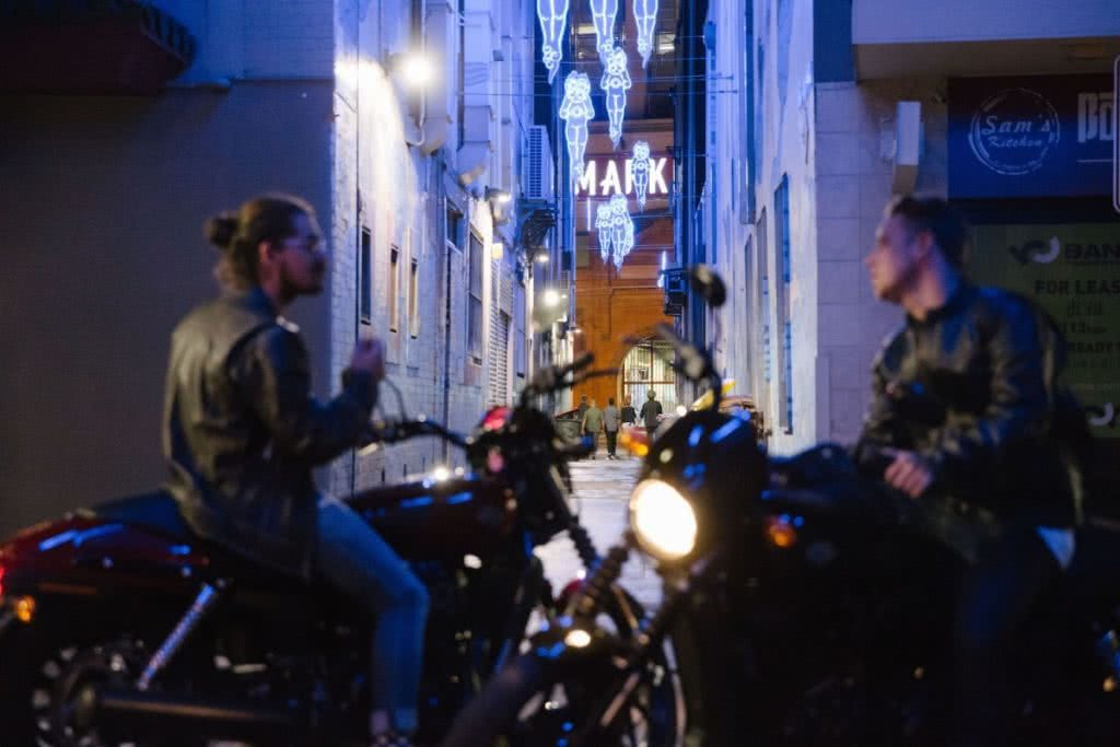 An Urban Adventure // Sydney (NSW) Henry Brydon, Photo Daniel Bolt, city lights, chinatown, motorbikes, friends, alleyway, night time