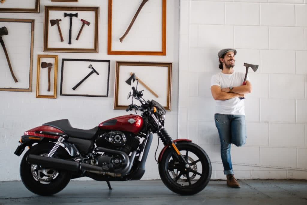 An Urban Adventure // Sydney (NSW) Henry Brydon, Photo Daniel Bolt, motorbike, axes, man, wall