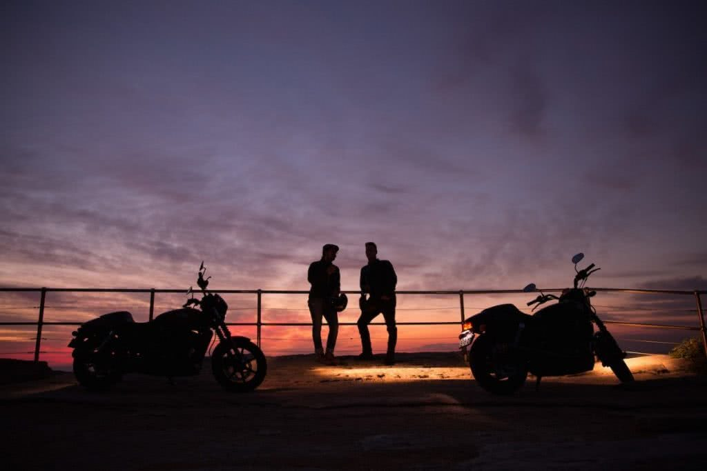 An Urban Adventure // Sydney (NSW) Henry Brydon, Photo Daniel Bolt, silhouettes, sunrise, motorbikes, railings, mates