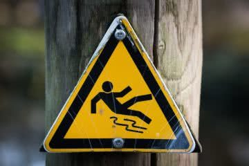 the fallen hiker a cautionary tale Henry Brydon, sign, safety