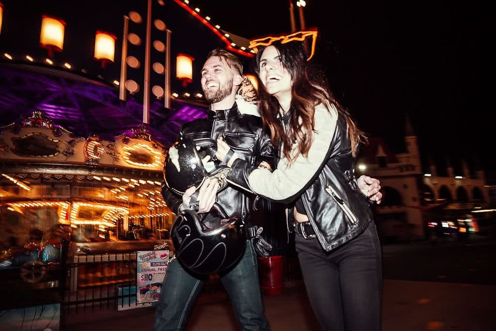 Another Urban Adventure // Melbourne (VIC), Henry Brydon, helmets, leather, circus, fairground, hugging