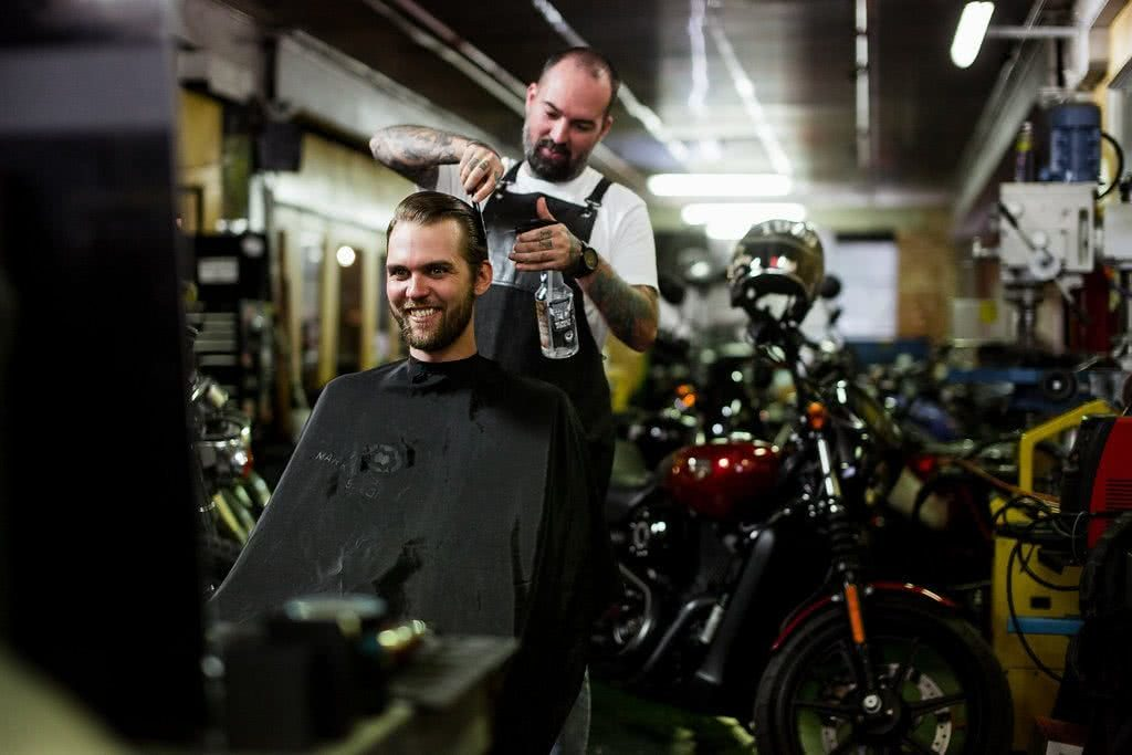 Another Urban Adventure // Melbourne (VIC), Henry Brydon, motorbike, barber, haircut