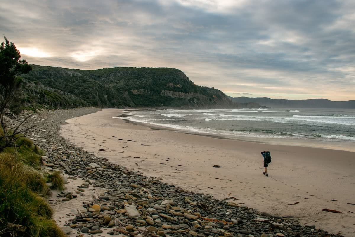 Chris Langton Tasmania South Coast Track beach