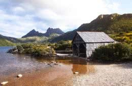 Seamus Faithfull The Boat shed cradle mountain tasmania hut lake