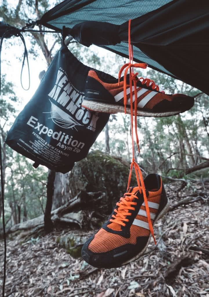 Essential Gear for Bikepacking Adventures, Henry Brydon, shoes, expedition hammock, bush
