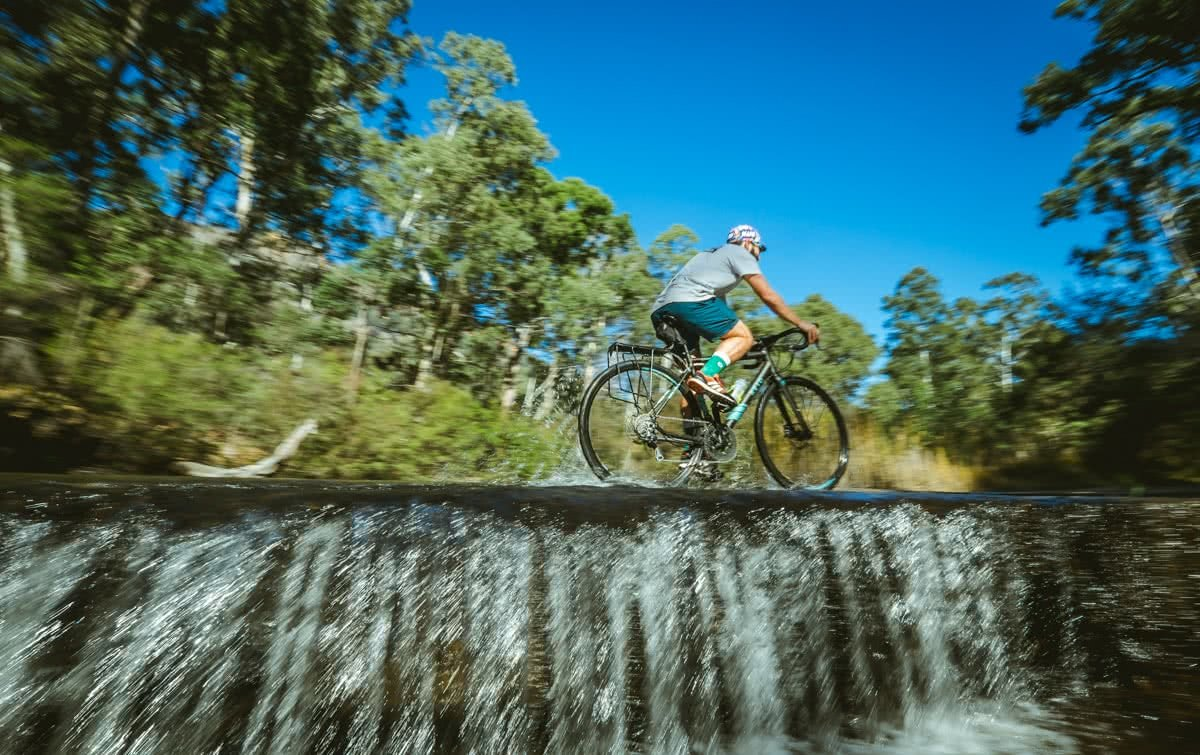 Glow Worm Tunnels Wollemi National Park NSW Reid Granite Review Henry Brydon, bike, weir, river, cycling, trees