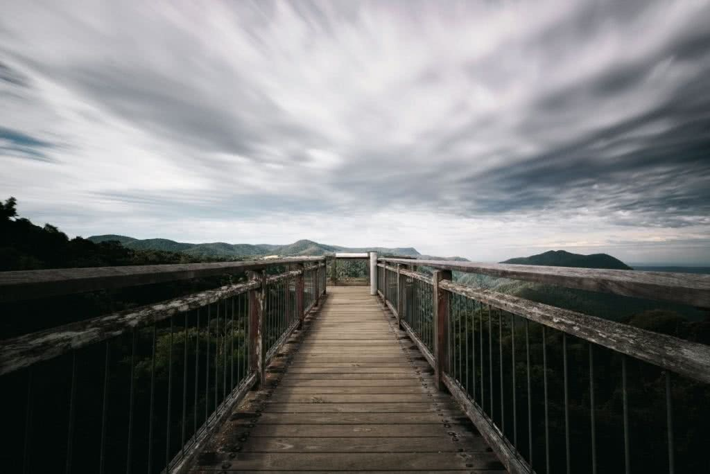 Waterfall Way // Coffs Harbour to Armidale (NSW) Matt Horspool, boardwalk, clouds, fence, sky