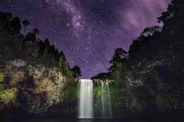 Waterfall Way // Coffs Harbour to Armidale (NSW) Matt Horspool, night, purple sky, pool, waterfall, astrophotography, stars, hero