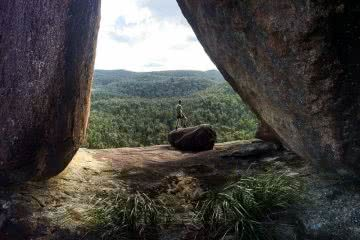 High up in Gibraltar (NSW) Dan Parkes Dandahra Crags rock formation