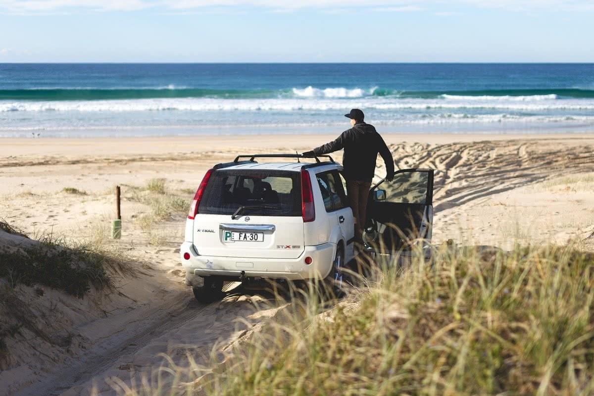 Sand Dunes & Stars At Hungry Gate (NSW), Liam Hardy, Hat-Head, car, off road, waves, beach, sand