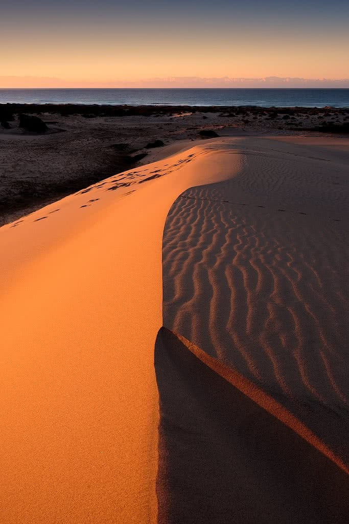 Sand Dunes & Stars At Hungry Gate (NSW), Liam Hardy, Hat-Head, shadows, windswept, pattern, sunlight