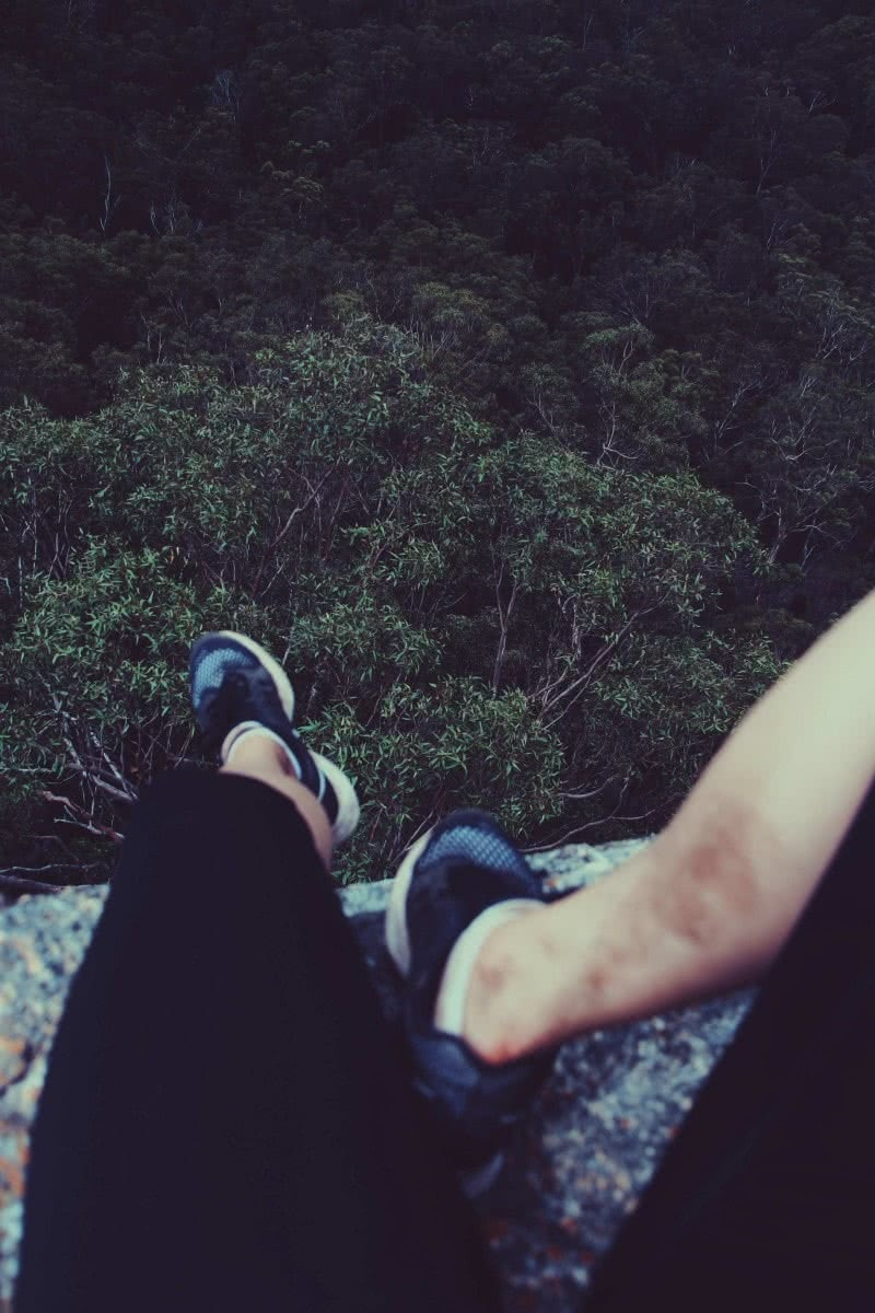 Rock Scrambling & Cave Exploring at Flinders Peak Jade Stephens Flinders Peak QLD mountains shoes