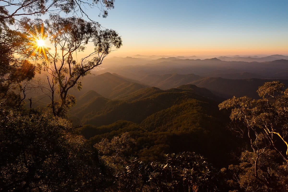 Liam Hardy New England National Park nsw view point mountains sunrise sunset