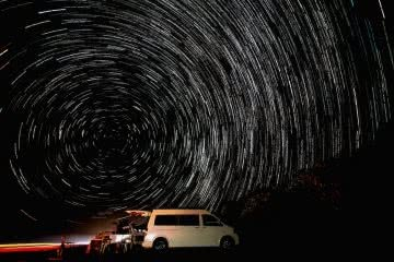 Scout Hinchliffe Great Sandy National Park qld astrophotography star trails van life road trip