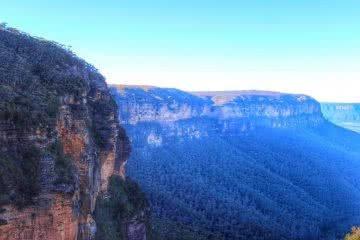 Wentworth Pass Corrine Mav, Blue Mountains, escarpment, horizon