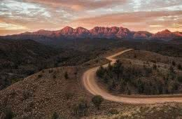Brian Hatchard razorback lookout sunrise riding bunyeroo rd flinders ranges hero south australia sa