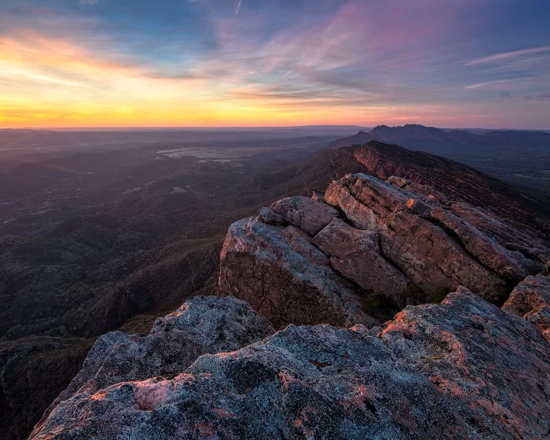 Brian Hatchard flinders ranges hero st mary peak summit sunrise south australia sa