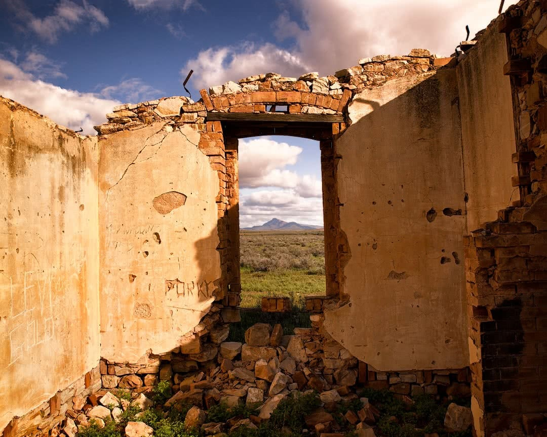 Brian Hatchard flinders ranges hero inside ruins south australia sa