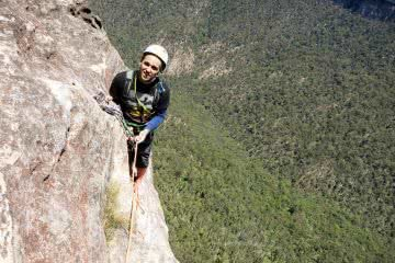 Climbing out of the Grose Valley in the Blue Mountains (NSW)