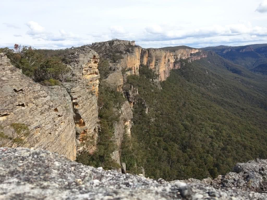 Mt Dawson From The Wolgan Valley (NSW) Melissa Hamblin Biggs, climbing walls, cliffs, scree, forest