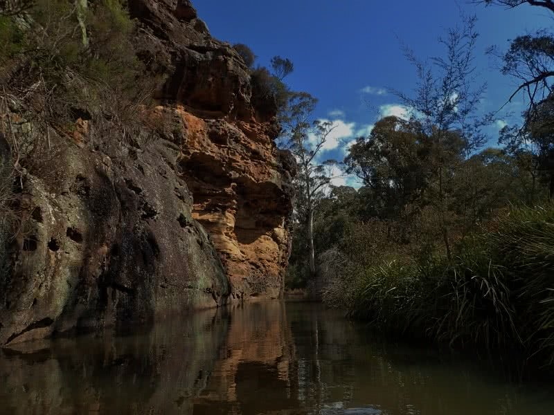 Rafting the Eastern Cudgegong (NSW) Anthony Bosch river rock cliff