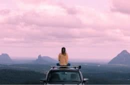 Escape to Australia's Most Tranquil Town // Maleny (QLD) Darcy Swain view, car, sunset