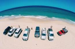 red head beach, jimmy DS, 4WD drone beach