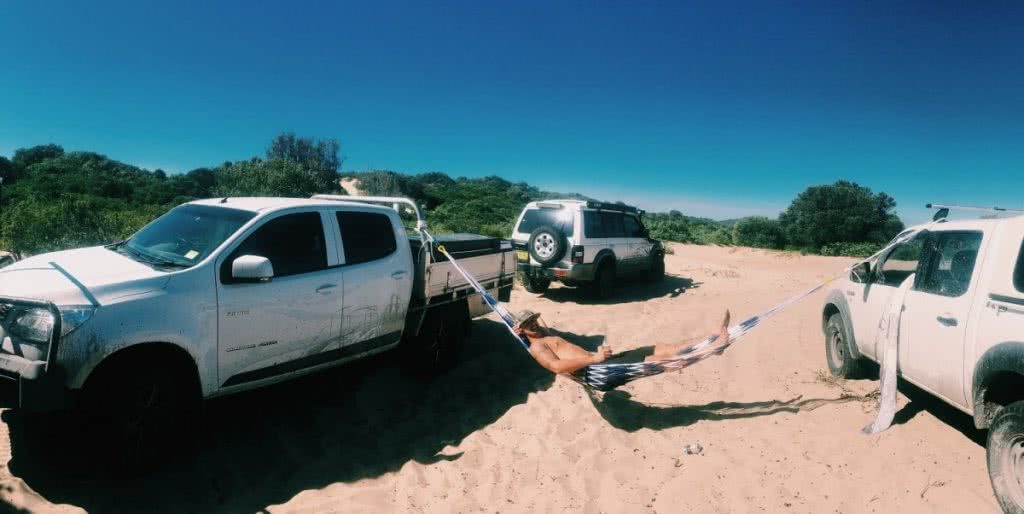 red head beach, jimmy DS, 4WD hammock