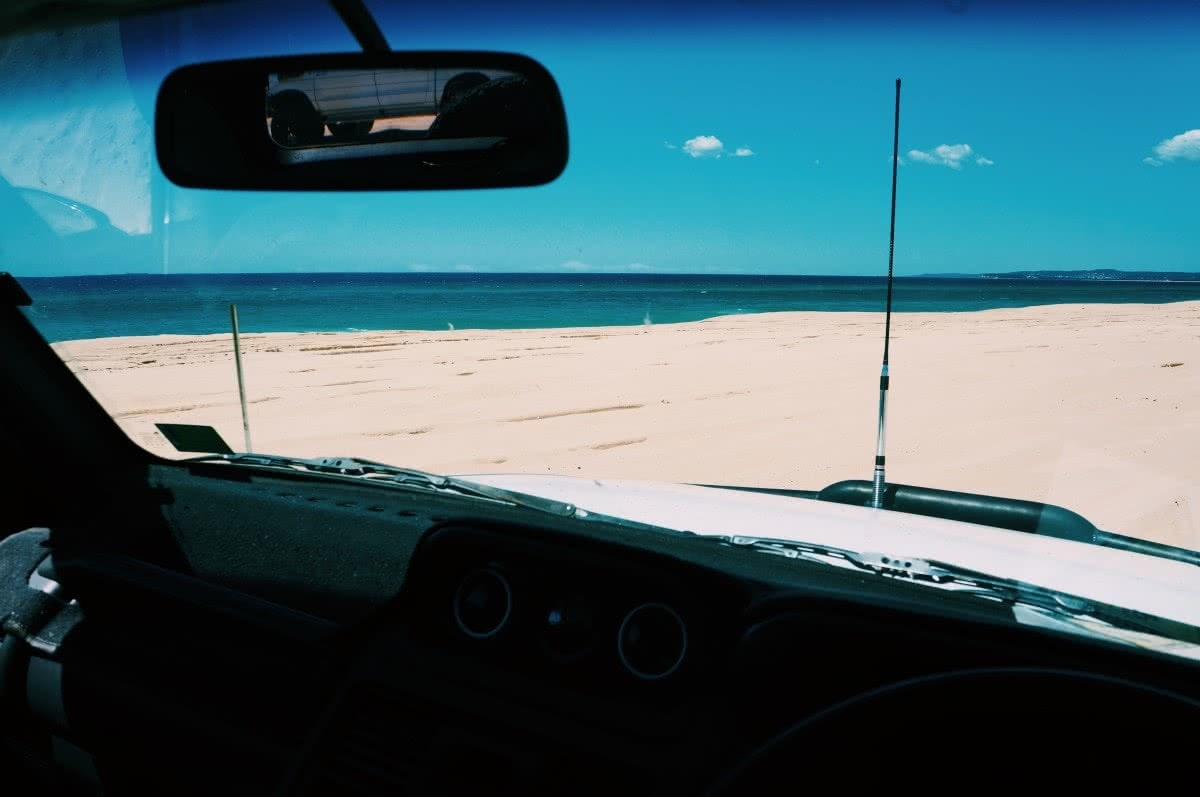 red head beach, jimmy DS, 4WD cockpit
