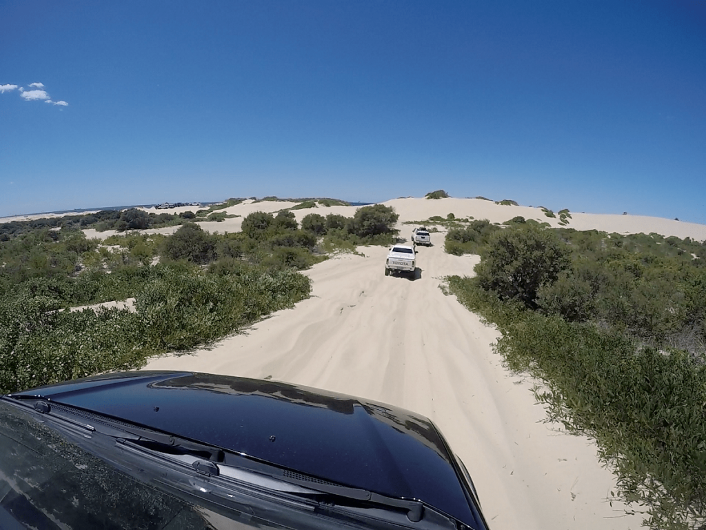 red head beach, jimmy DS, 4WD track