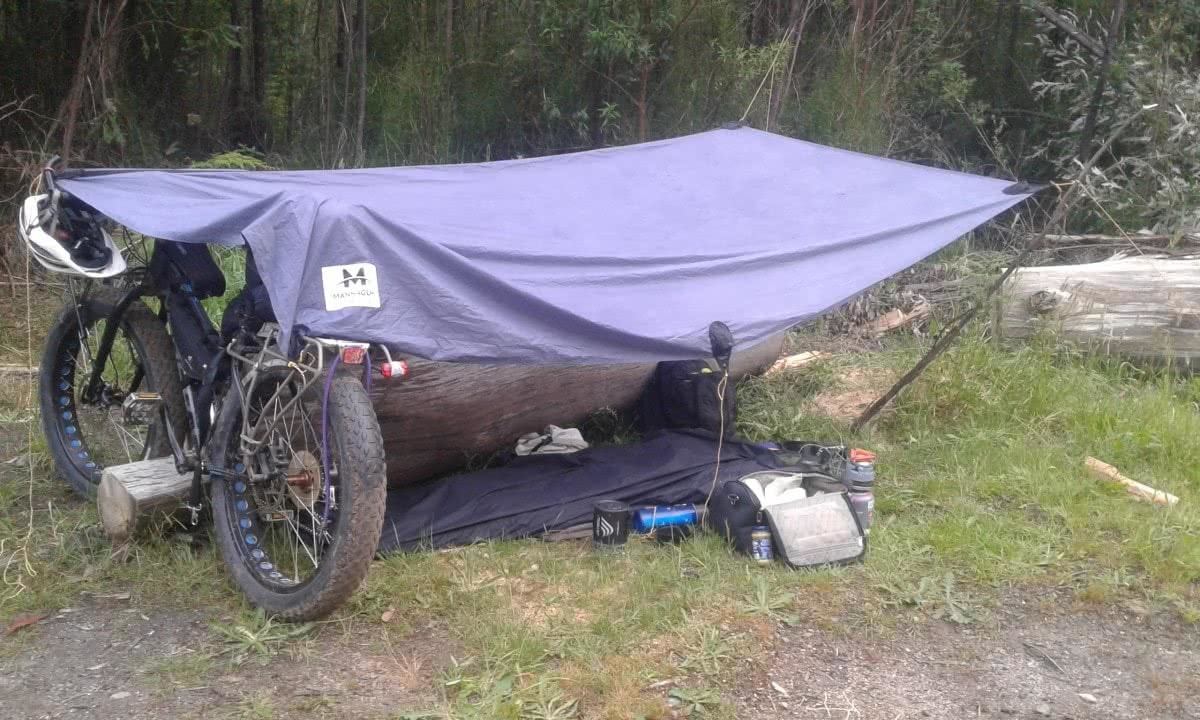 Fat Weekender // The Great Forest National Park (VIC) Aidan Kempster, shelter, fat bike, tarp, camping