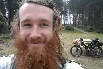 Fat Weekender // The Great Forest National Park (VIC) Aidan Kempster, biker, beard, smile, fat bike, selfie