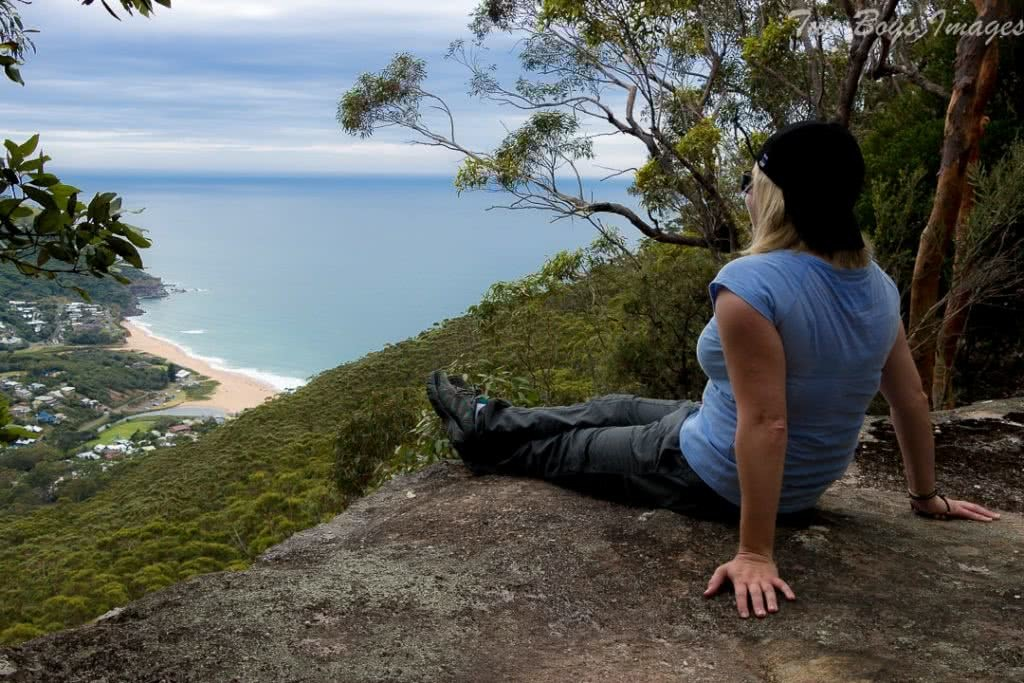 Melissa Bowyer Mt Mitchell View Inside the Rock Hiking Near Stanwell Park Hiker top view