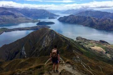 Tiffany Hulm roys peak new zealand mountains hiking hero