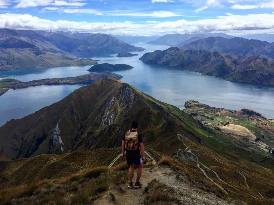 Tiffany Hulm roy's peak new zealand mountains hiking hero