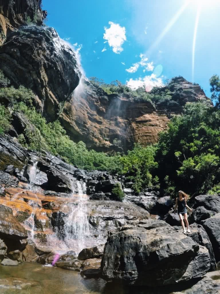 national pass, blue mountains, wild swimming