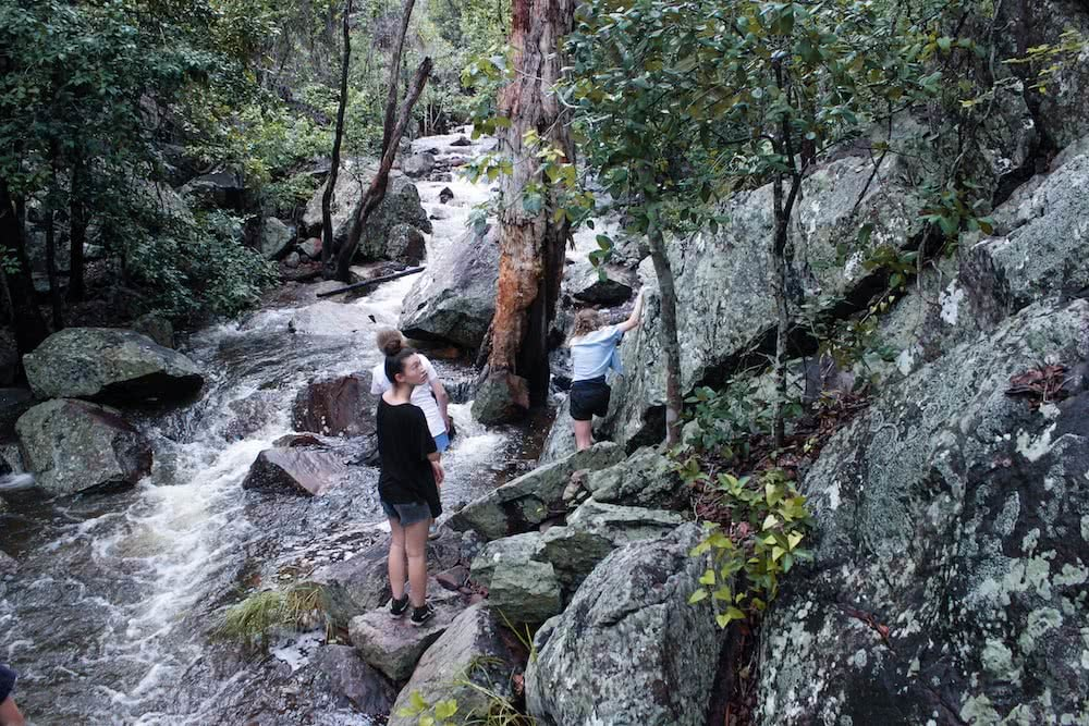 A Rainy Forest Walk // Robin Falls (NT) jack hunt robin falls northern territory three people, rocks, boulders, hiking