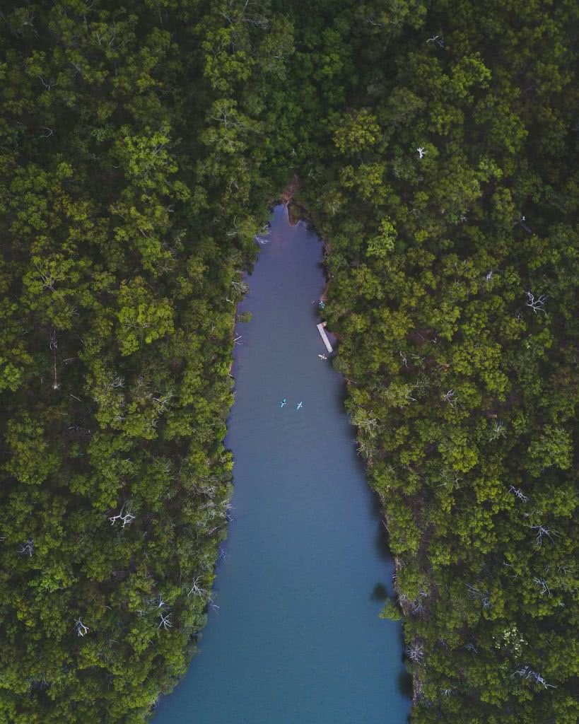 Croajinolong National Park, Gippsland, kayaking, drone, green dense, hero