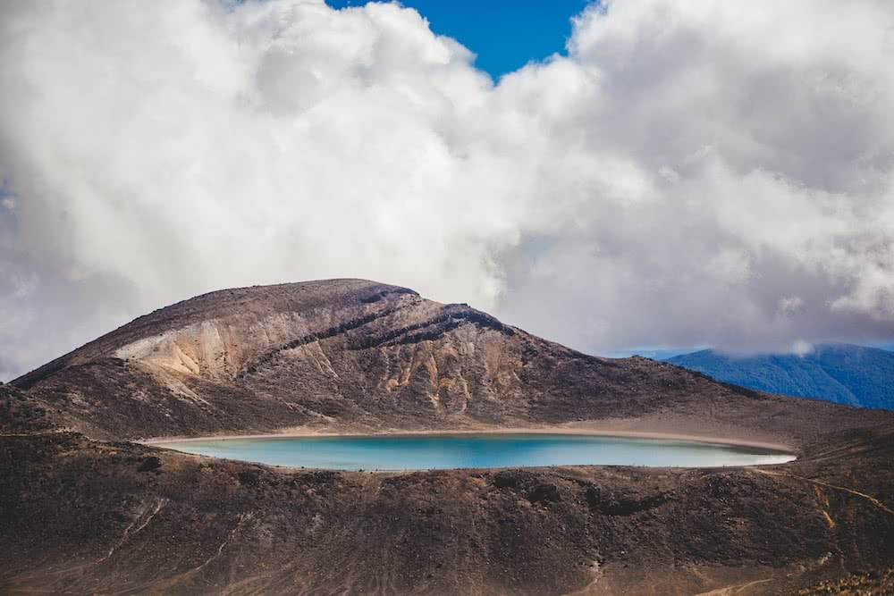Blue Lake Cherihan Hassun tongariro alpine crossing nz new zealand mountains snow