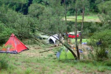 Camping by the water, Nepean River, Australia