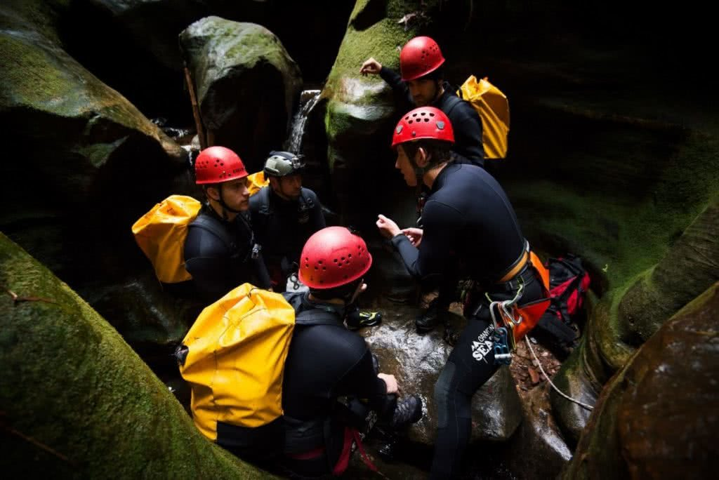 Jake Anderson BMAC instructing 7 outdoor jobs canyoning
